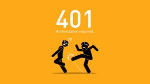 401 error wordpress featured image